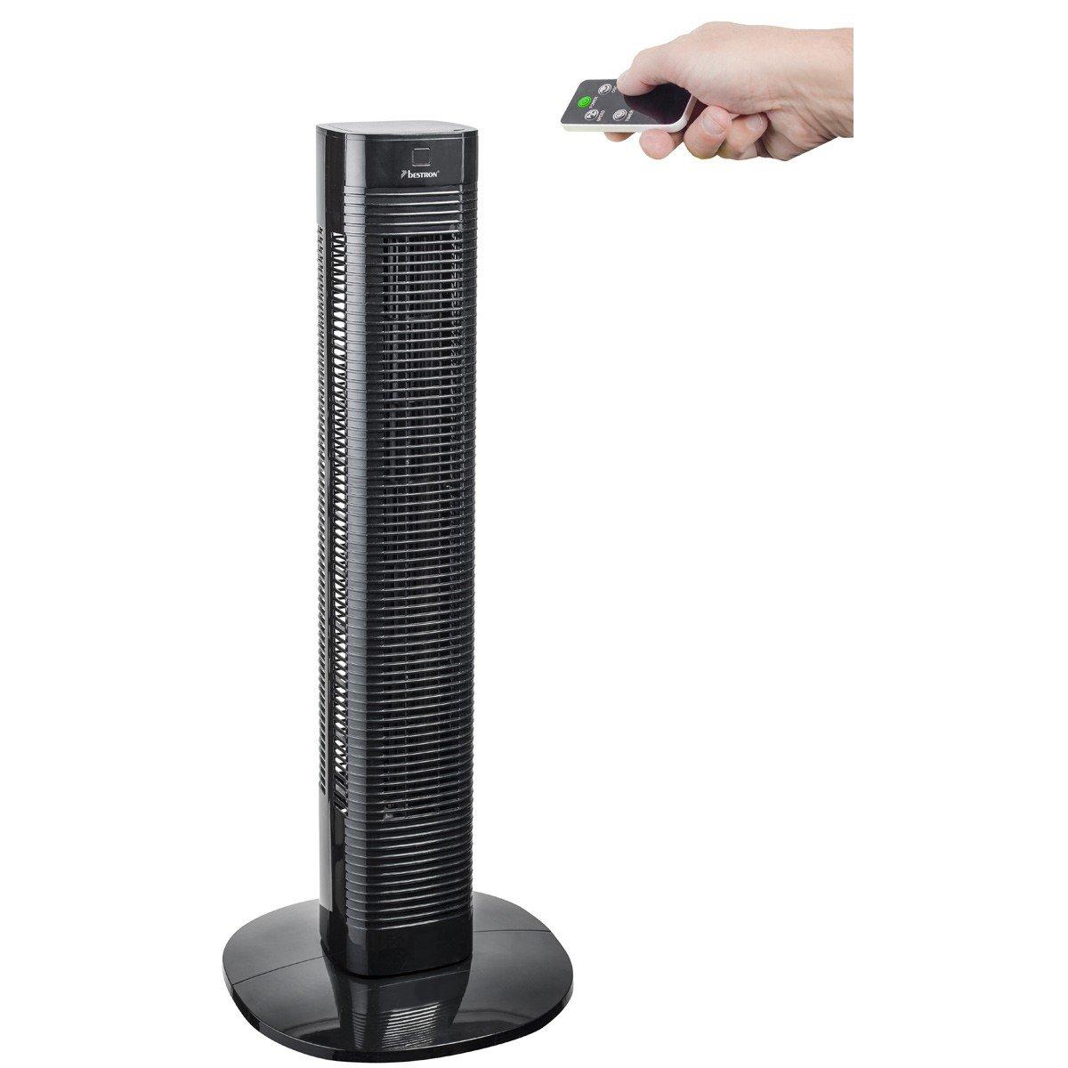Wonderbaarlijk Bestron Compact Tower Fan With Remote Control and Digital Timer EA-22